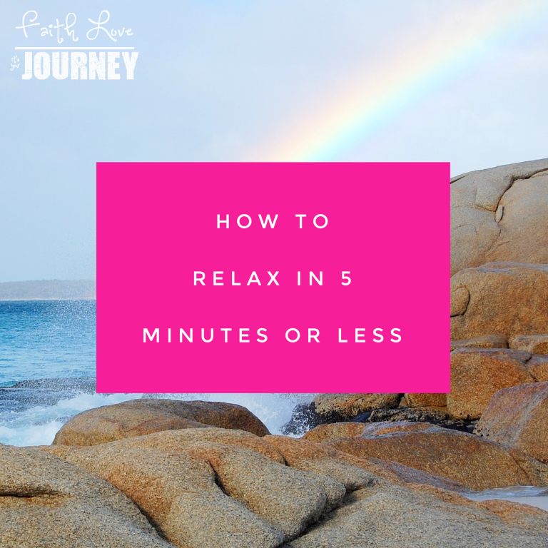 How to relax and clear your mind in 5 minutes or less